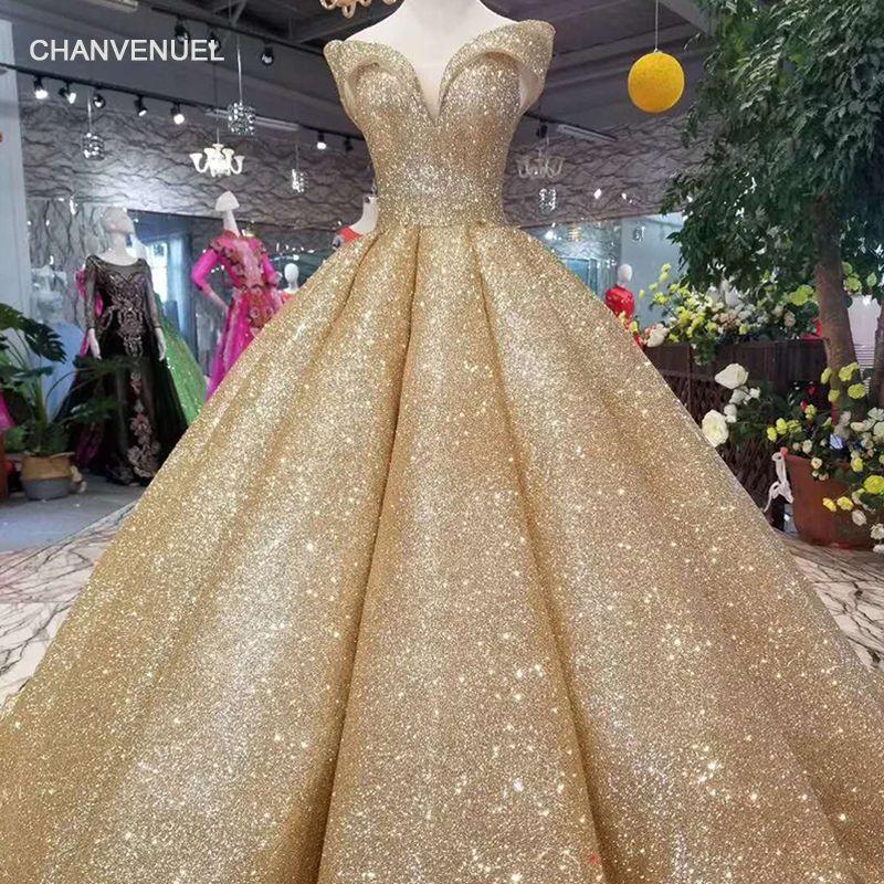LSS107 luxus dubai shiny kleid frauen anlass weg von der schulter schatz goldene glitter ball kleid kurve form hohe qualität
