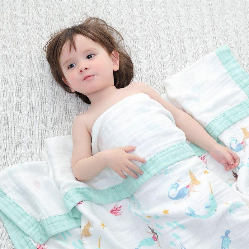Quatre couches bambou bébé mousseline couverture de Mousseline swaddle mieux que Aden Anais Bébé/bambou Couverture écharpe pour bébé