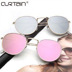 2017 rétro ronde lunettes de soleil femmes hommes marque designer Lunettes de soleil pour femmes Alliage de miroir lunettes de soleil lentes oculos femmes de sol