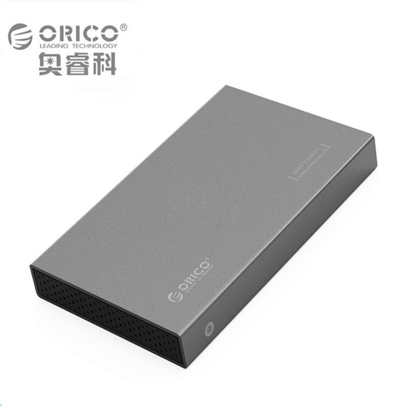 Original ORICO 2518S3-GY Support 2.5 inch HDD / SSD  Mobile hard disk box with Hot plug DIY Lock with screws Drive box