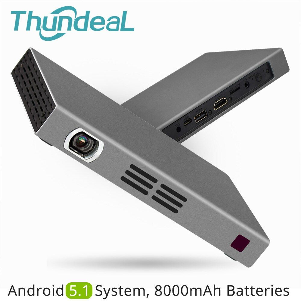 ThundeaL T16 DLP Projector 280ANSI Android 5.1 WiFi Bluetooth Battery Handheld Game Video Miracast Airplay Mini LED Projector