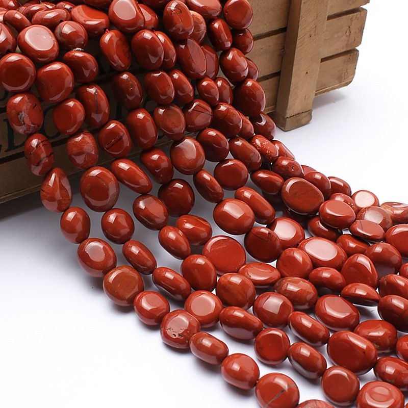 Natural Stone Beads 8-10mm Irregular Red Jasper Stone Beads For Jewelry Making Bracelet Necklace 15inches