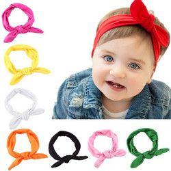 Anak-anak Ikat Kepala Busur untuk Gadis Kelinci Telinga Rambut Band Serban Simpul Anak-anak Turban Accessoire Faixa Cabelo untuk BEBE Headband Bayi Gadis