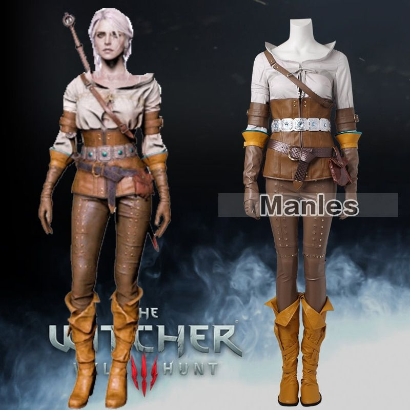 The Witcher 3 Wild Hunt Cirilla Costume Cosplay Clothes Game Suit Adult Women Halloween Carnival Whole Set Female Custom Made
