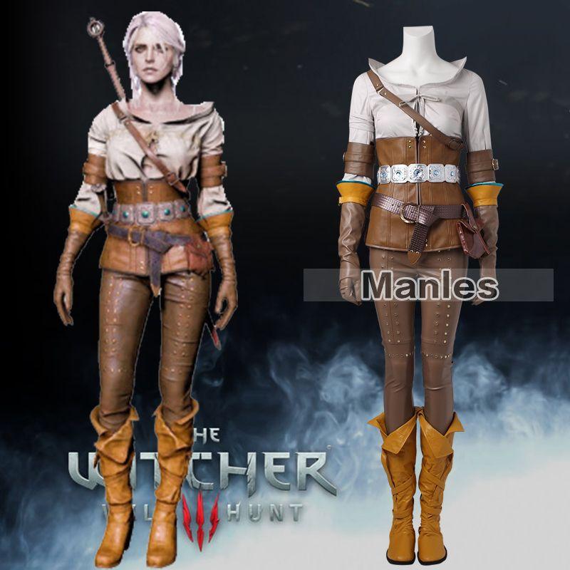 The Witcher 3 Wilde Jagd Cirilla Kostüm Cosplay Kleidung Spiel Anzug Frauen Halloween Karneval Ganze Set Weibliche Nach Maß