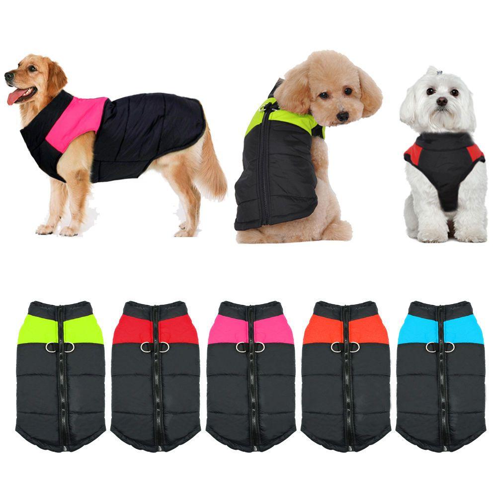 2017 Winter Hund Kleidung Wasserdichte Warme Haustier Weste Jacke Mantel Für Small Medium Large Hunde roupas para cachorro S M L XL XXL