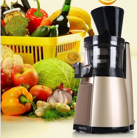 2015 new arrival Slow squeezing technology HU-19SGM 43RPM Fruit Vegetable Citrus Juice Extractor 100% Original For HUROM