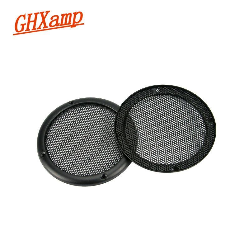 Ghxamp 2 шт. 3.5 дюймов автомобиля Динамик решетки сети сетки крышка металлический полноценно металлический корпус Динамик решетки