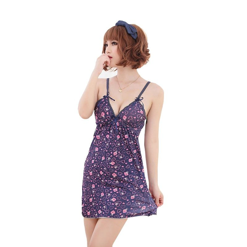 The new home of sexy lingerie lace flower V-neck sling sexy pajamas transparent shipping