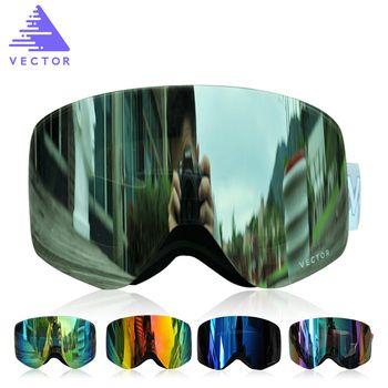 Вектор бренд лыжные очки Для мужчин Для женщин Двойные линзы UV400 Анти-туман сноуборд Лыжный Спорт Очки Большой маска снег очки