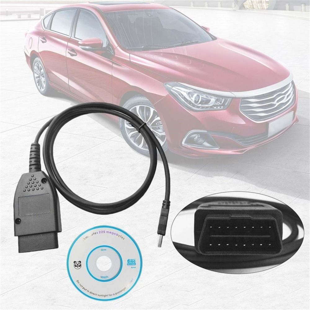 Professional 17.1.3 and 17.1 HEX+CAN USB Interface Car Auto Fault Diagnosis Wire (German/English)