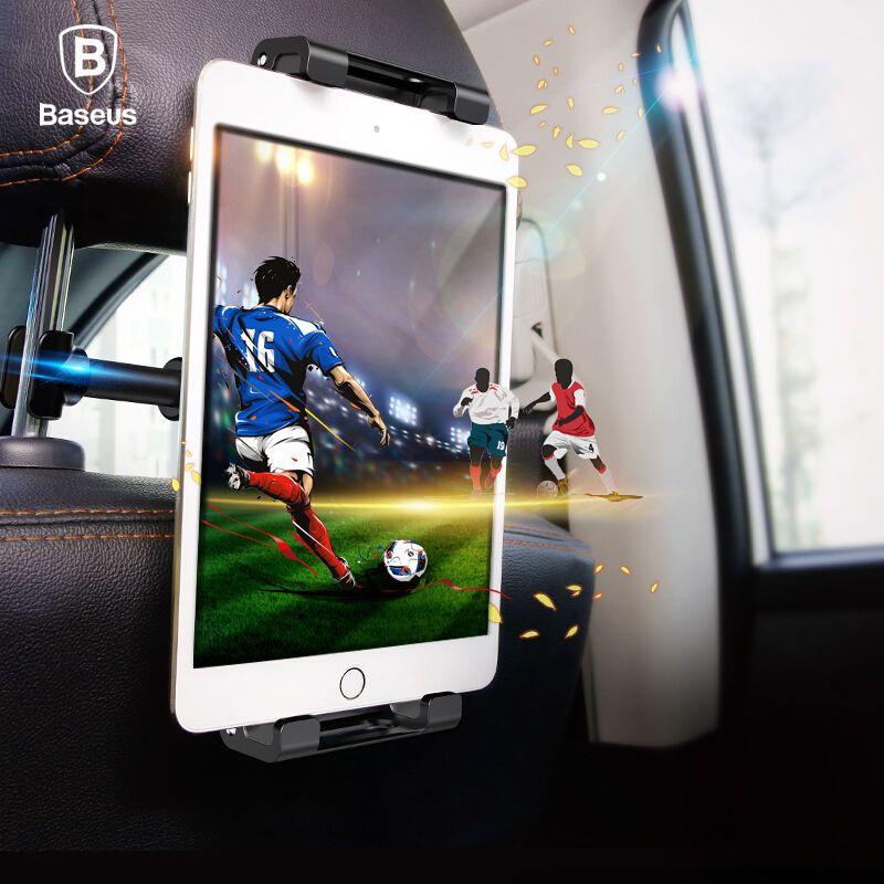 Baseus Backseat Car Holder for 4.7-12.9 inch Headrest Phone Holder Tablet PC Holder For iPhone Samsung iPad Back Seat Car Stand