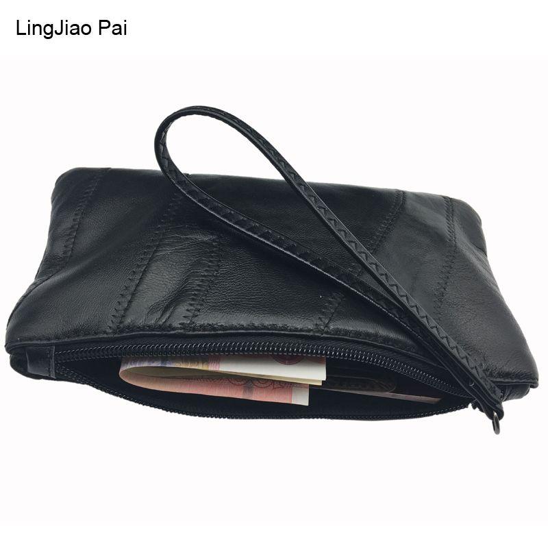 LingJiao Pai Large Capacity Fashion Women Wallets Long Sheepskin Leather Wallet Female Zipper Clutch Coin Purse Ladies Wristlet