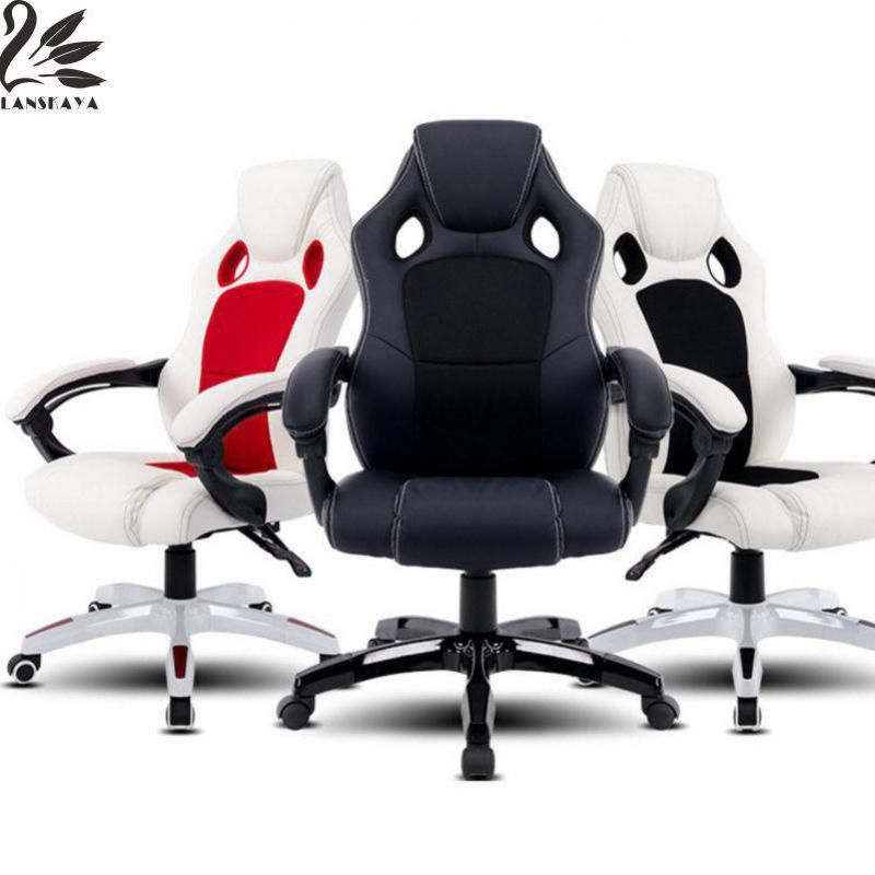 Lanskaya 2018 Ru Stock Office Chairs High Back Pu Leather Executive Desk Race Racing Ergonomic Car Style Gaming Chair
