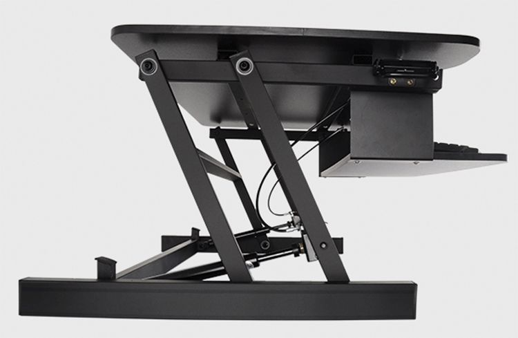 EasyUp Computer Desk with Handle Sit Stand Desk Riser Foldable Laptop Desk Stand With Keyboard Tray Notebook/Monitor Holder