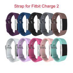 Gros Diamant Bracelets De Silicone pour fitbit charge 2 Remplacement De Courroie De Bande Pour Fitbit charge 2 Bracelet Bracelets À Puce