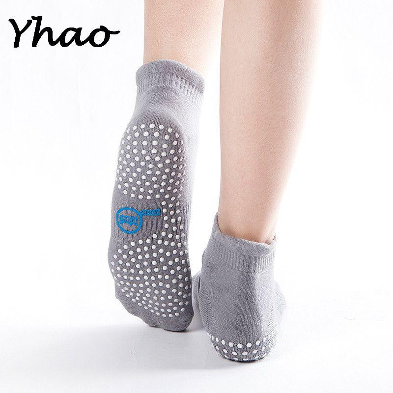 Yhao не бренд 4 цвета для взрослых Для женщин Нескользящие носки горошек упражнения Yoga Танцы тренажерный зал Спорт Пилатес Носки для девочек Б...