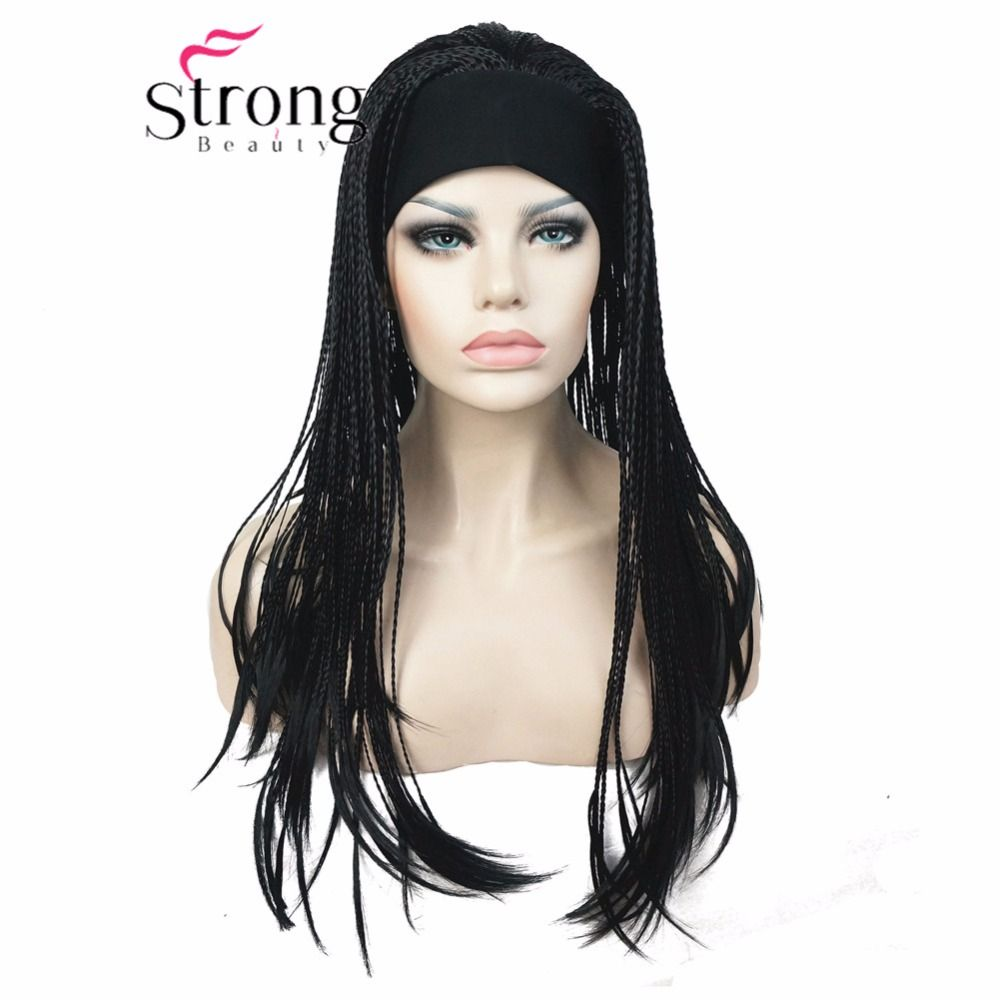 Long Braided Box Braids Wig Full Coverage Synthetic Wigs COLOUR CHOICES