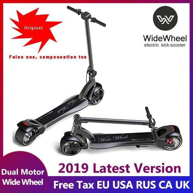 2019 neueste Widewheel Elektrische roller Dual motor roller elektrische kick-roller 634Wh erwachsene roller mit key lock und voltmeter