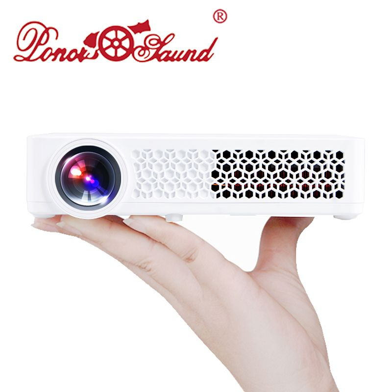 Poner Saund DLP800W Portable Mini Projector 3D WIFI Home Theatre 1080P HD Optional Android Bluetoot Handheld Proyector Beamer US