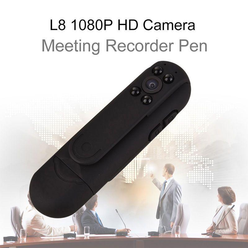Blueskysea L8 1080 P HD инфракрасный Ночное видение Камера встреча ручка Мини Digital Video Регистраторы 2400 мАч 12MP CMOS Бесплатная доставка