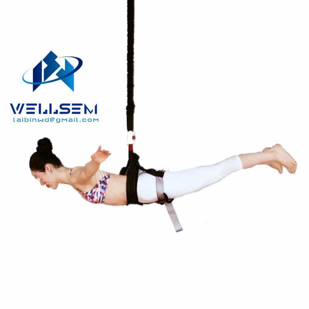 Wellsem Neue Ankunft Bungee Dance Workout Fitness Luft Anti-gravity Yoga Widerstand Band Home Gym Ausrüstung