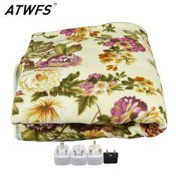 ATWFS 160*150 см Электрический двойной Одеяло Электрический матрац толще подогреваемый ковер Отопление Одеяло