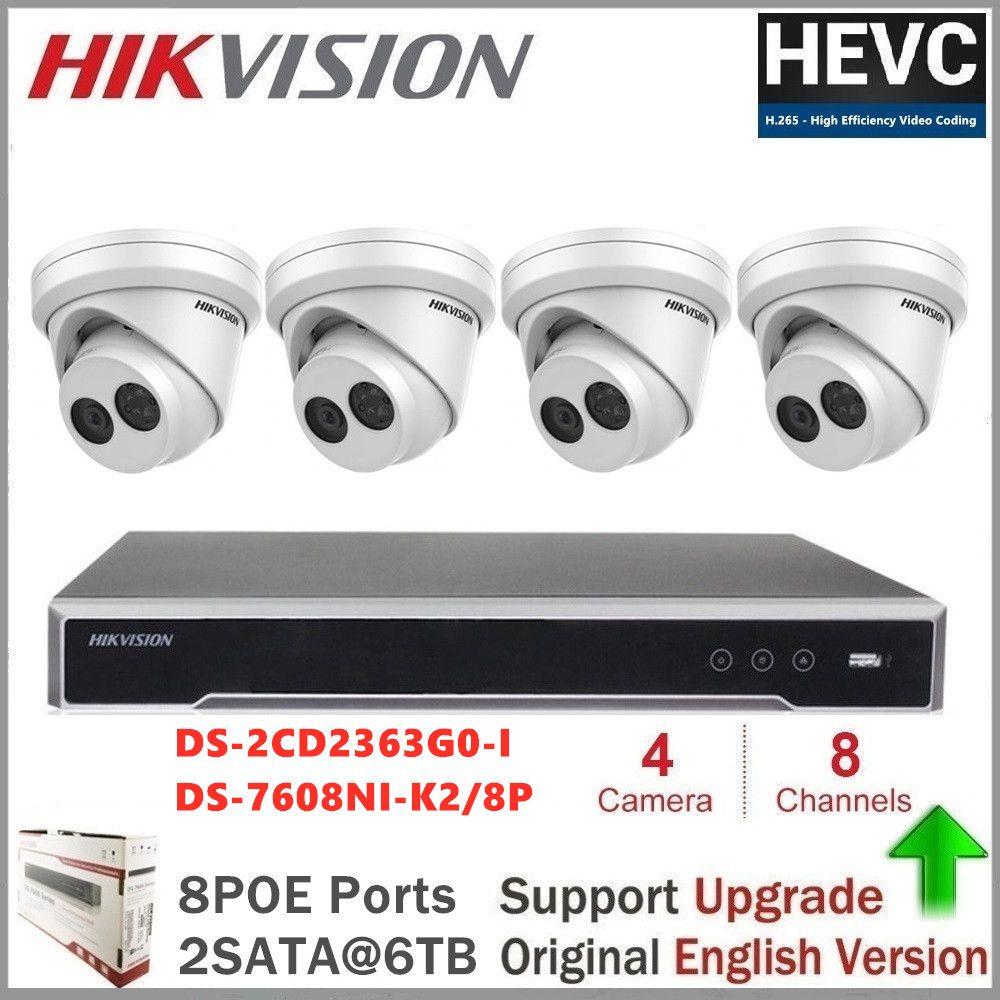 Hikvision PoE IP Kamera Kits 6MP IR Fest Revolver Netzwerk Sicherheit Kamera CCTV Nachtsicht Video Überwachung DS-2CD2363G0-I