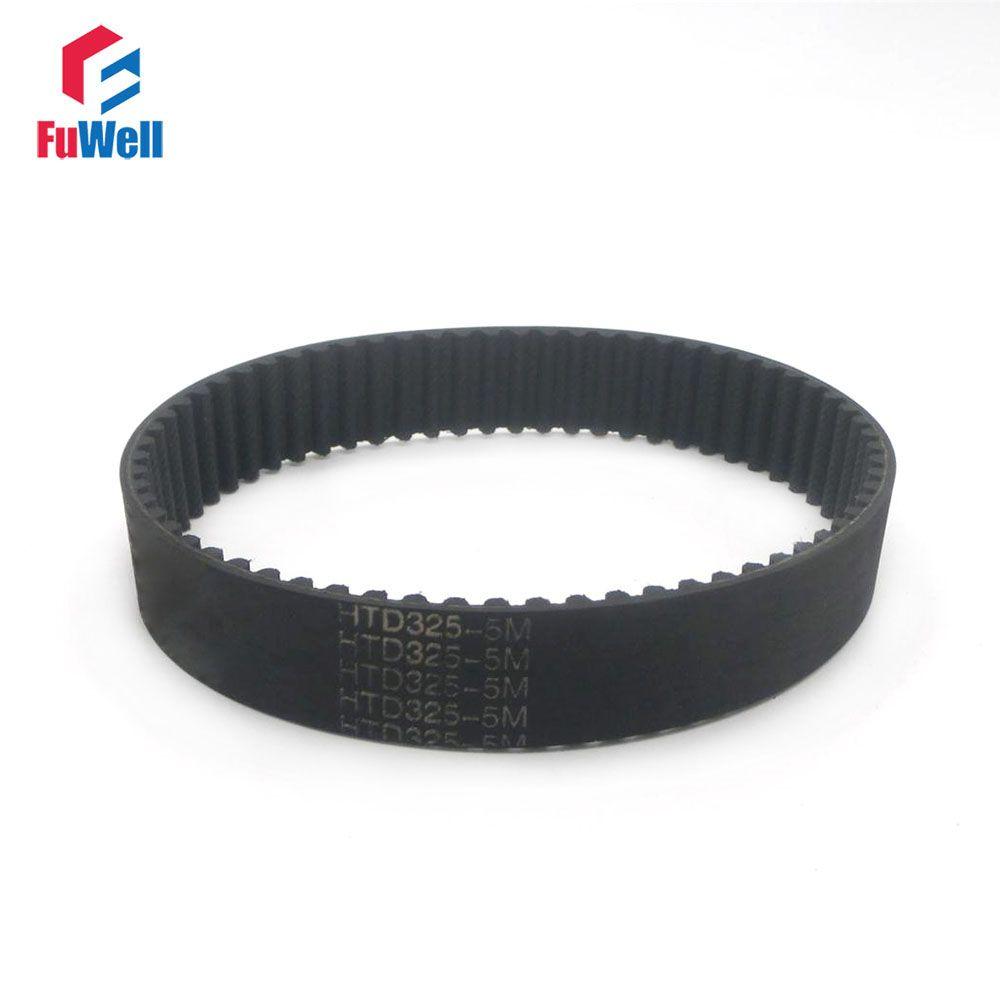 2pcs HTD 5M Synchronous Timing Belt 180/210/225/235/250/285/295/330/305/320/325-5M 15/20/25mm Width 5mm Pitch Rubber Gear Belt