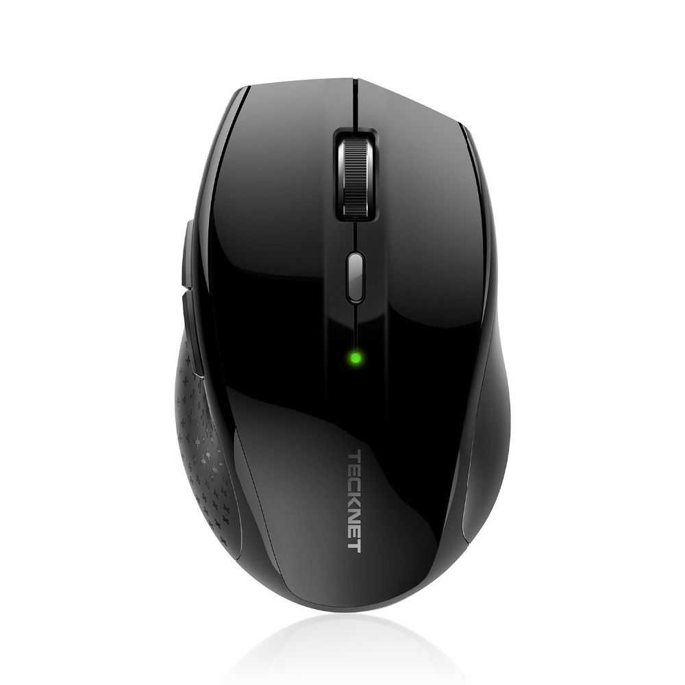 TeckNet Alpha Ergonomic 2.4G Wireless Optical Mobile Mouse with USB <font><b>Nano</b></font> Receiver for Laptop PC Computer 6 Buttons