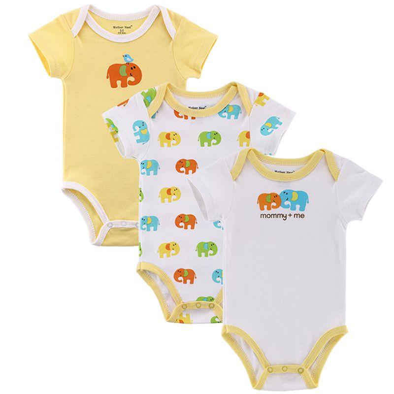 Mère nid 3 pièces/lot Fantasia bébé Body infantile combinaison ensemble manches courtes Body costume bébé vêtements ensemble été coton