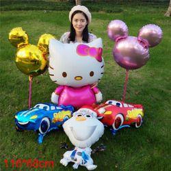High quality Cartoon Hello Kitty Foil Balloons Birthday Wedding Inflatable Balloons Classic toys HelloKitty Gift