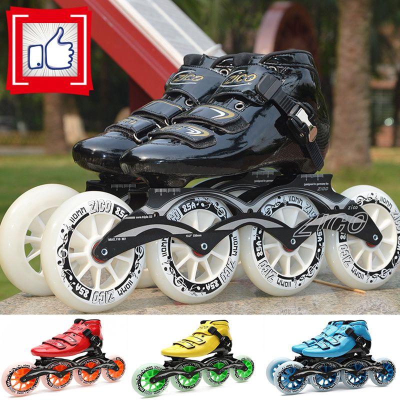 2-Layers Carbon Fiber Inline Speed Skates Adults Kids Alphalt Street Skating Shoes for MPC for CITYRUN Korea Japan Racing Roller