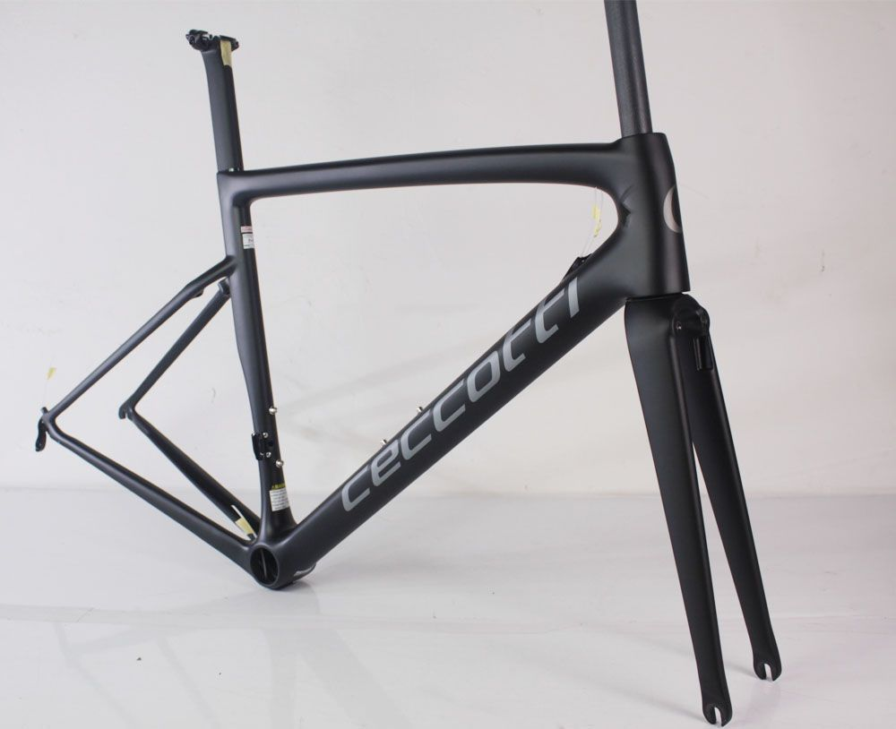 2018 new carbon road frame DI2 970g carbon road bike frame Ceccotti bicycle racing frame 44/49/52/54/56cm