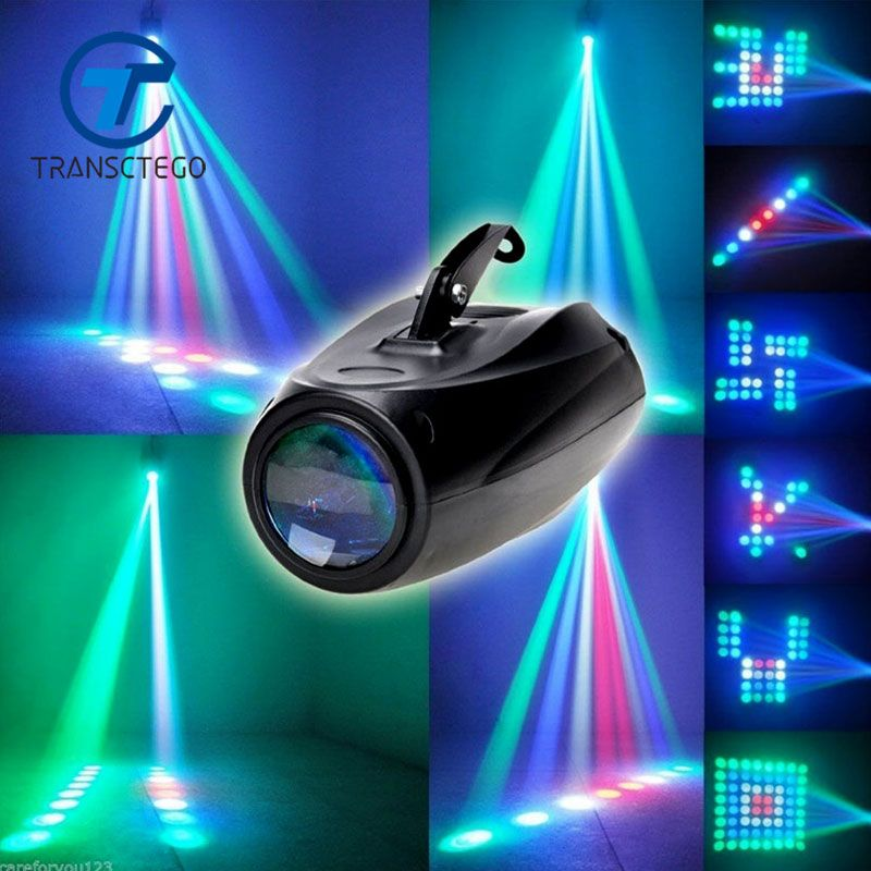 TRANSCTEGO Sound Lights DJ Disco Light Led Laser Lamp Patterns Party Stage Disco <font><b>Projector</b></font> Bar Laser Blimp Wedding Lighting