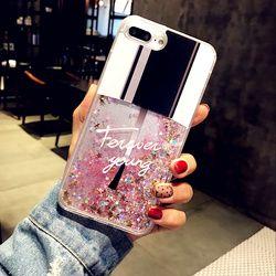 Mode Bling Liquide Quicksand Cas Pour IPhone 6 6 s Plus Cas vernis à Ongles Couverture Arrière Pour Iphone 7 Coque pour Iphone X 7 8 Plus