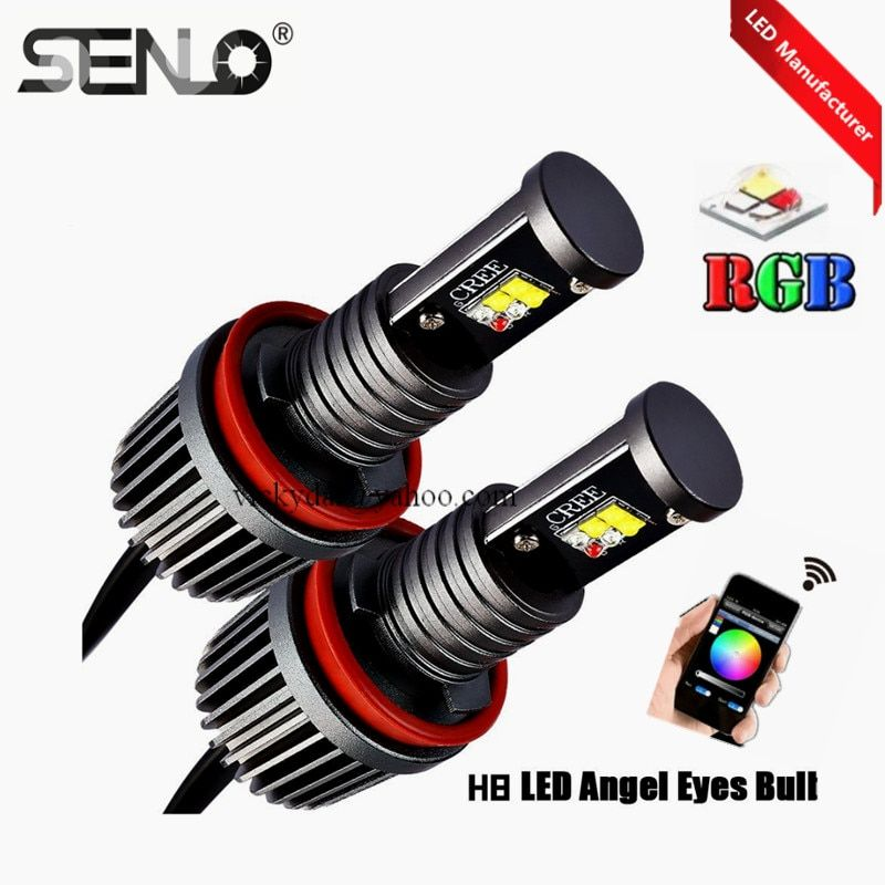 Multicolors changing wifi rgb h8 e92 angel eye 30w halo ring RGBW for bmw e92 E60 E61 E63 E70 X5 E71 X6 E90 E91 E92 M3