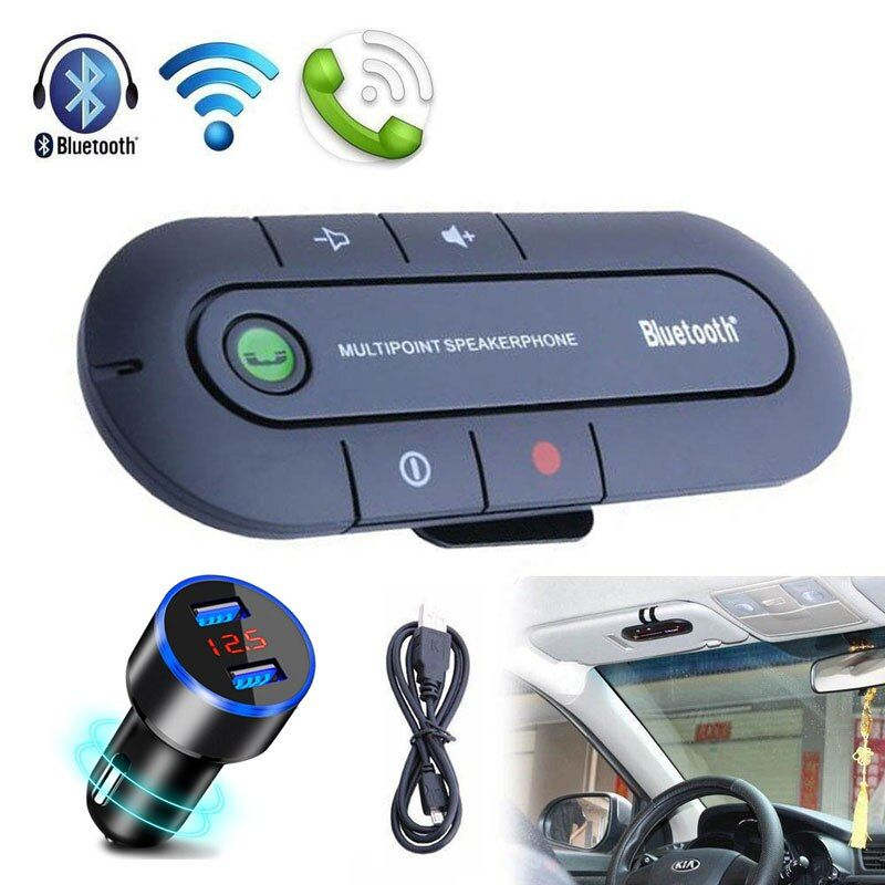 Handsfree Bluetooth Car Kit Wireless Bluetooth Stereo Speaker Phone MP3 Music Player Bluetooth Transmitter With Dual USB Charger