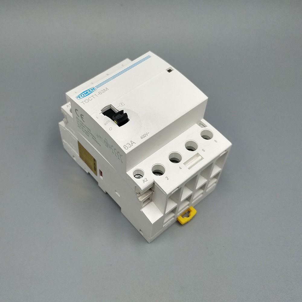 TOCT1 4P 63A 220V/230V 50/60HZ Din rail Household ac Modular contactor with Manual Control Switch 4NO or 2NO 2NC or 4NC