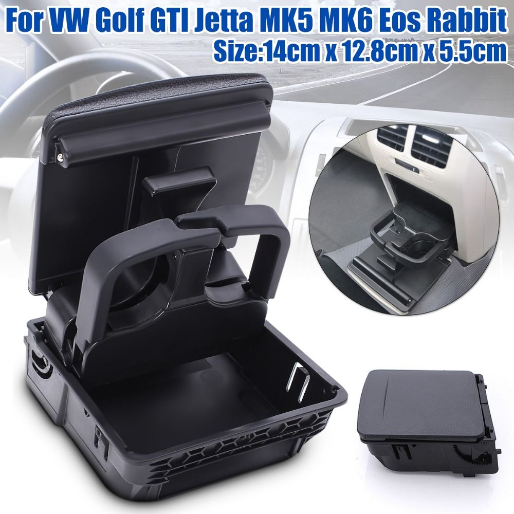 New Central Console Armrest Rear Cup Drink Holder For VW/Jetta MK5 5 Golf MK6 6 MKVI 1K0 862 532 C