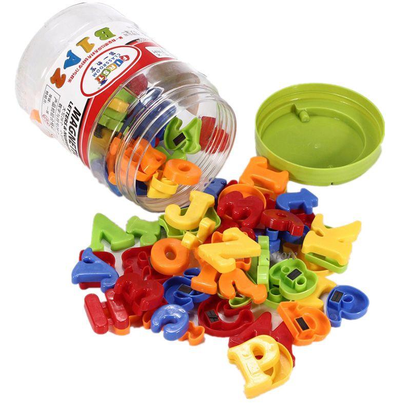 78 pièces en plastique coloré magnétique réfrigérateur aimant Alphabet lettre numéro enfants bébé enfant apprentissage jouet éducatif aimant lettres