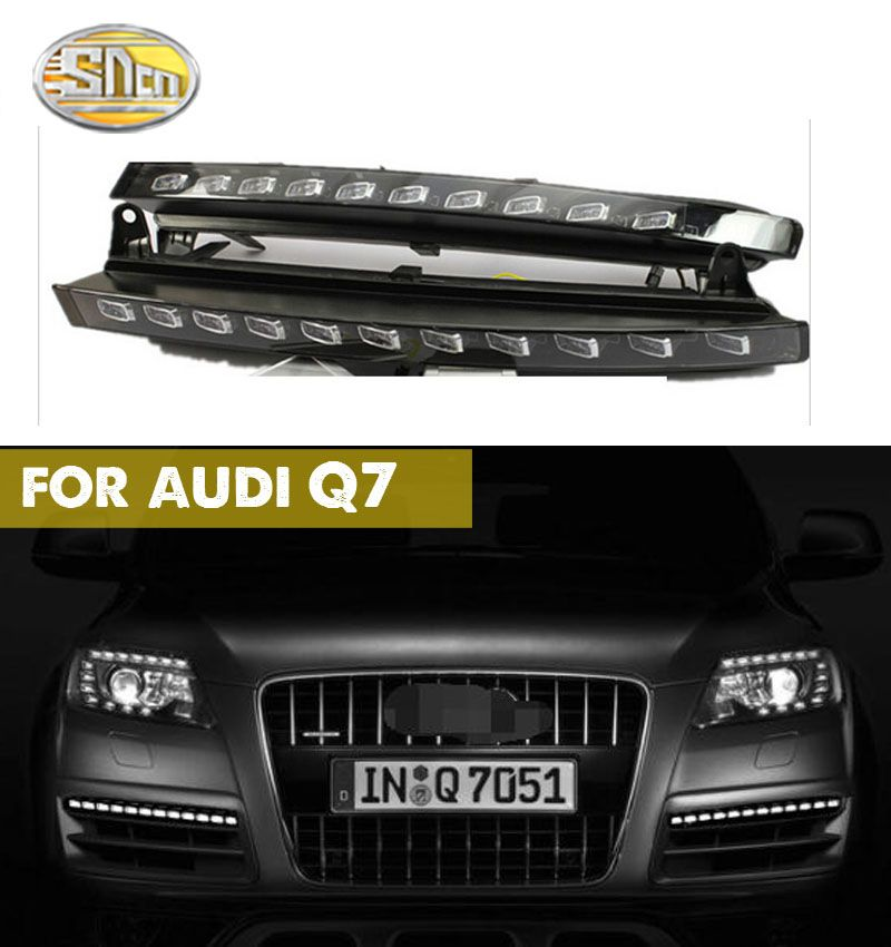 For Audi Q7 2006 2007 2008 2009,Yellow Turning Signal Light Car DRL Waterproof 12V LED Daytime Running Light Fog Lamp Bulb