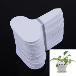 100Pcs Pembibitan Tanaman: T-jenis Plastik Label Tanaman Garden Nursery Pot Pekebun Bunga Tebal Tanaman Label marker