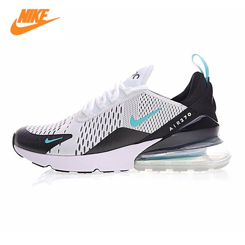 NIKE AIR MAX 270 Air Cushion Men's Running Shoes ,White Blue ,Shock Absorbent Breathable Lightweight AH8050-001 AH8050-460