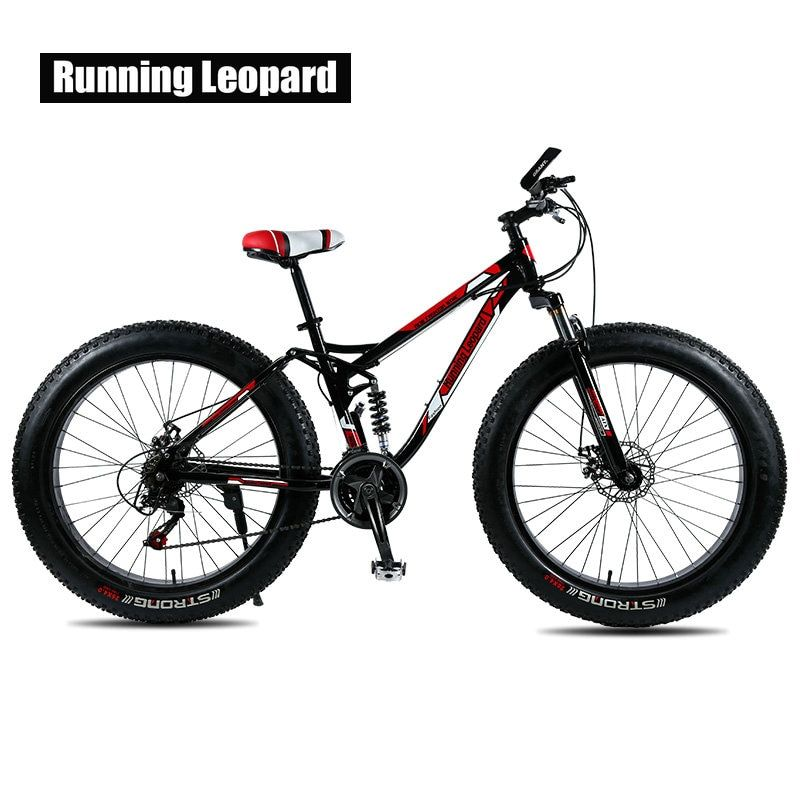 Running Leopard Fatbike Fat Bike Mountain Bike 26 inch 24 speed adult bikes. Children bicycle Road bikes, snowy beach bicycles