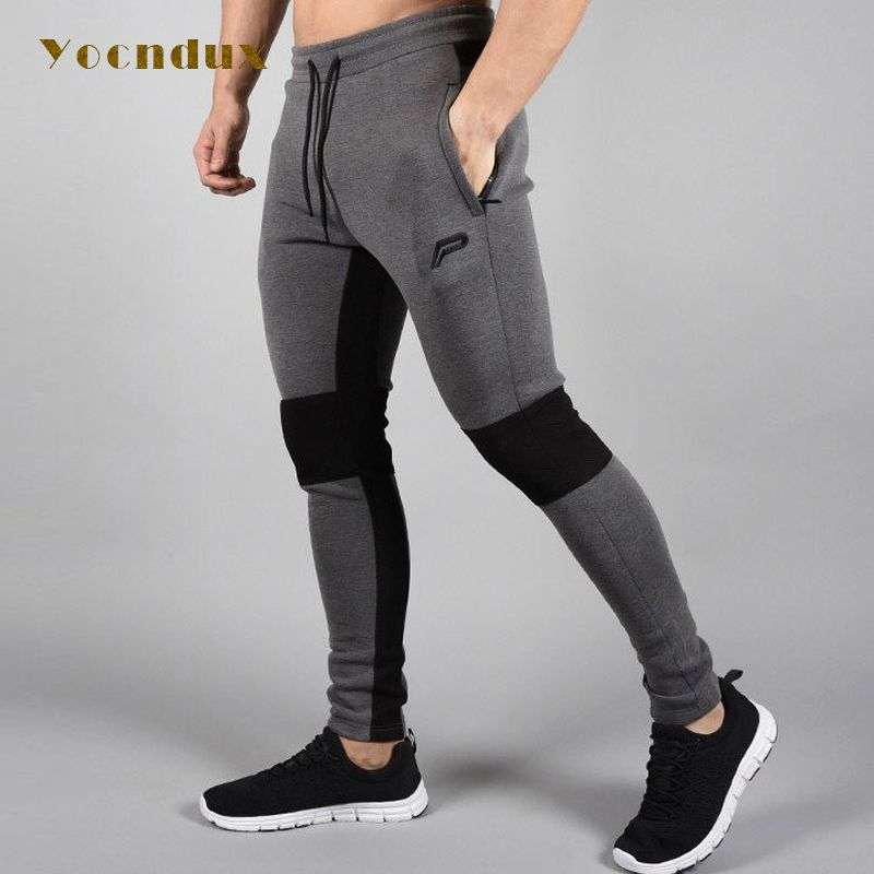 2017 New Arrival men's autumn winter fitness trousers Sports pants training running Sports men's comprehensive training pants