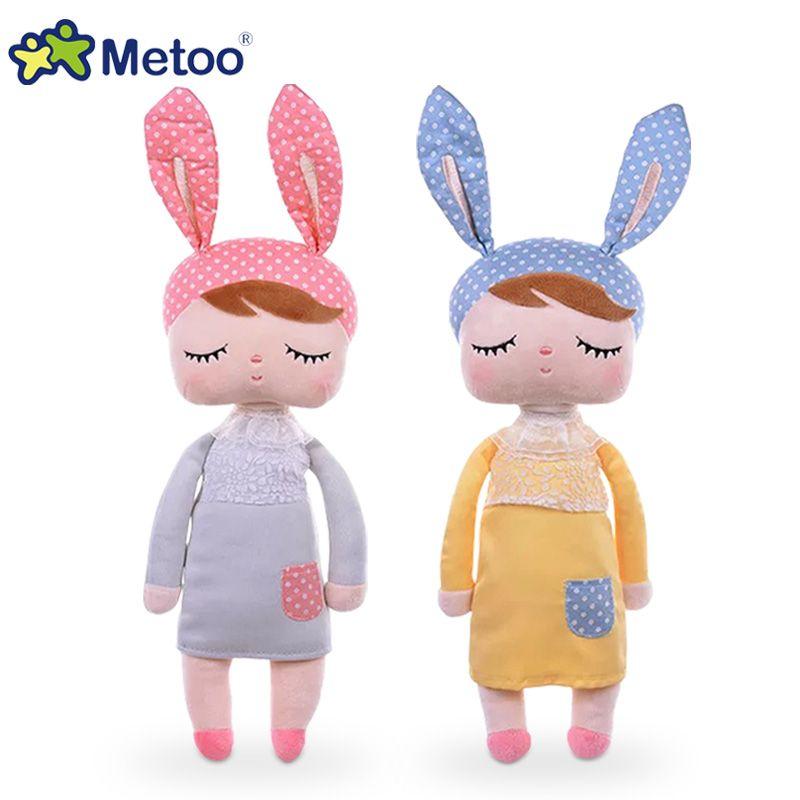 43 CM mignon Metoo Angela poupées lapin bébé jouet en peluche Animal en peluche pour enfants cadeau d'anniversaire de noël