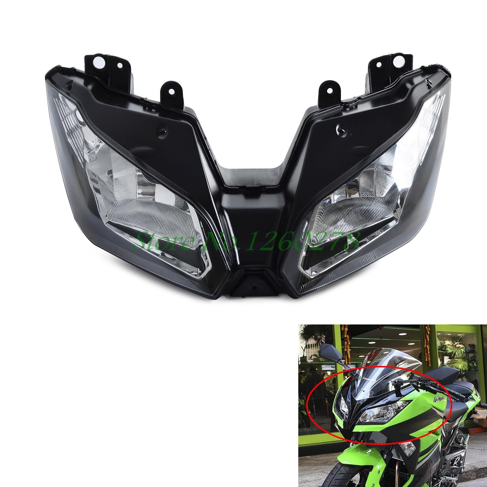 Motorcycle Headlights Headlamp Head Light Lamp Assembly For Kawasaki NINJA 300 2013 2014 2015 2016 VERSYS 650 1000 2015 2016