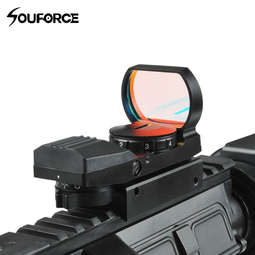 New Arrival 1x22-33mm Multi 4 Reticle Electro Red Dot Sight Riflescope with <font><b>Mount</b></font> for 20mm Rail E