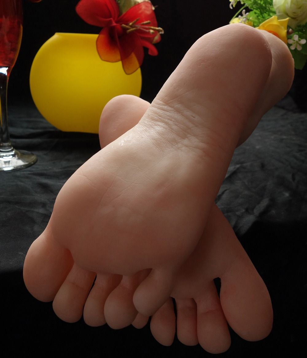 Latest silicon gymnast girl ballerina dancer feet foot fetish toes pointing foot model toy doll free shipping Love
